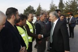 Başkan Mustafa Çelik, kurum içi veda ziyaretlerini Makine İkmal Atölyesi ile sürdürdü