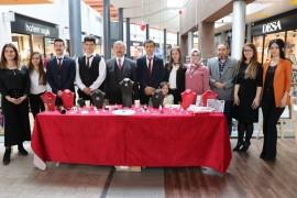 Ahi Evran Mesleki ve Teknik Anadolu Lisesi öğrencileri eserlerini sergiledi