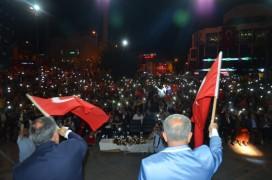 Milli Birlik Gününde Develi Meydanı Tıklım Tıklım Doldu