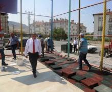Başkan Mehmet Cabbar, Park Revize Çalışmalarını Yerinde İnceledi